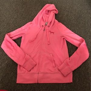 Victoria's Secret Pink Zip Up Hoodie Sweatshirt S